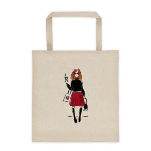 Girl With Coffee Tote bag