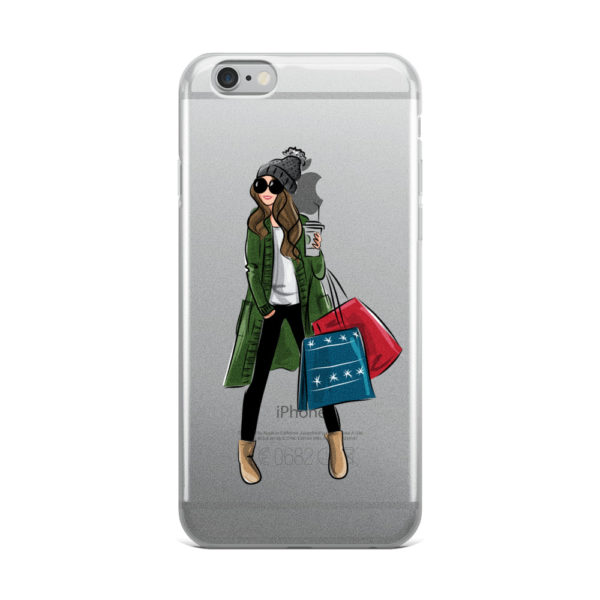 Winter shopping iPhone Case