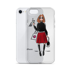 Girl with coffee iPhone Case