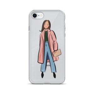 Pink coat iPhone Case