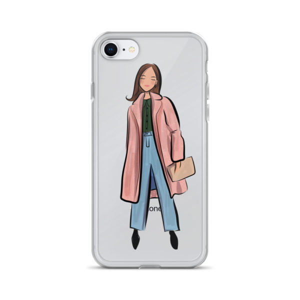 Pink coat iPhone Case