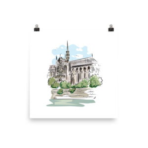 Notre Dame de Paris Enhanced Matte Paper Poster (in)
