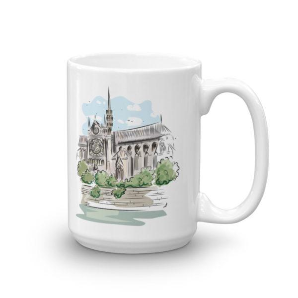 Notre Dame de Paris White Mug