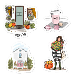 Fall #2 Bubble-free stickers