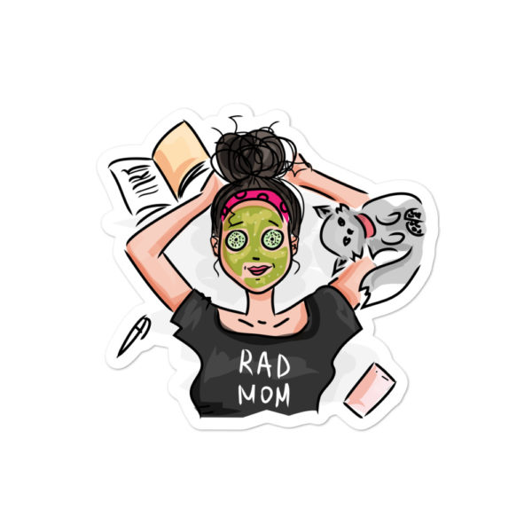 RAD Mom Bubble-free stickers