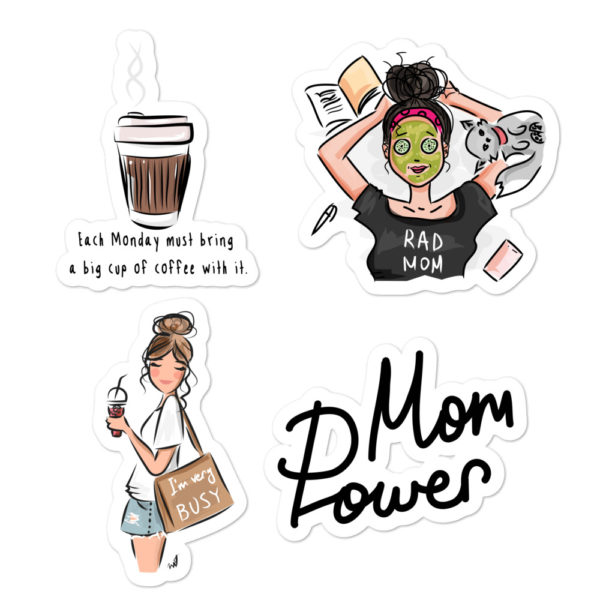Busy Mom Bubble-free stickers