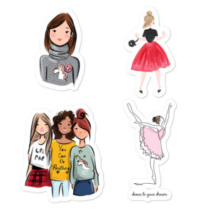 Girl Power Bubble-free stickers