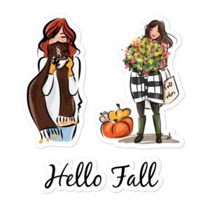 Hello Fall Bubble-free stickers