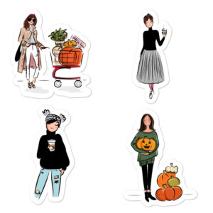 Fall #3 Bubble-free stickers