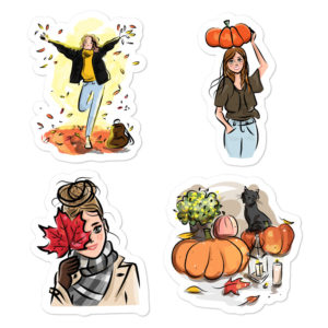 October Vibes Bubble-free stickers