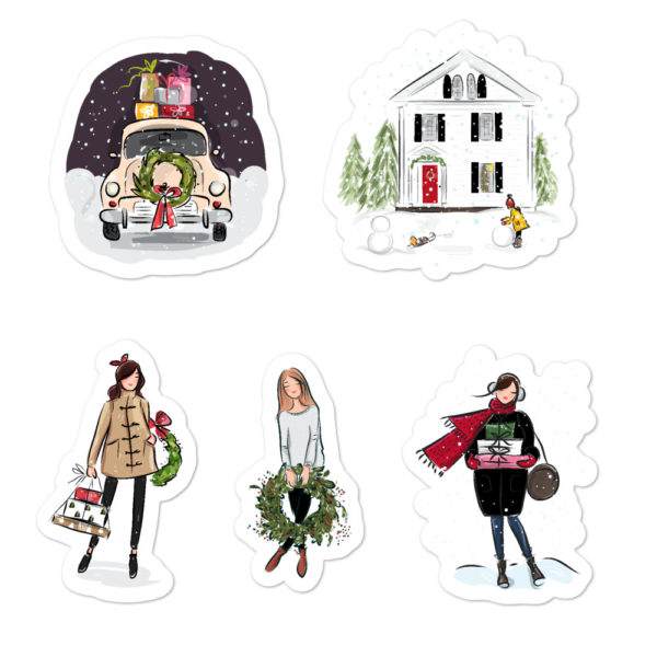 Holiday Bubble-free stickers